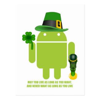 Puede usted vivir mientras usted quiera el android tarjetas postales