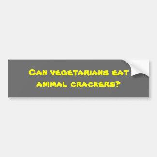 ¿Pueden los vegetarianos comer las galletas animal Pegatina De Parachoque