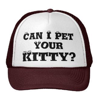¿Puedo acariciar su gatito? Gorra