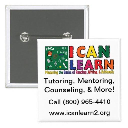 Puedo aprender el botón cuadrado pin