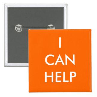 Puedo ayudar a los acontecimientos voluntarios de  pin cuadrado