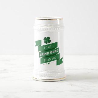 Puedo beber más que usted Stein Jarra De Cerveza