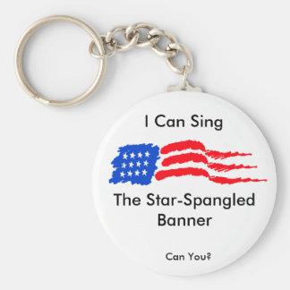 Puedo cantar el himno americano llavero redondo tipo pin