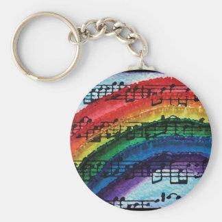 Puedo cantar un arco iris llavero redondo tipo pin