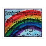 Puedo cantar un arco iris postal
