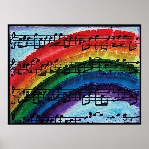 Puedo cantar un arco iris póster