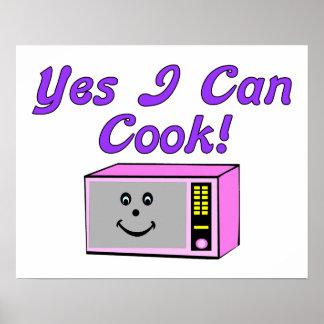 Puedo cocinar sí microonda póster