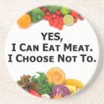 Puedo comer SÍ la carne que elijo no - al vegetari Posavasos Personalizados