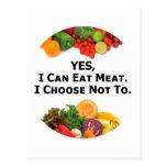 Puedo comer SÍ la carne que elijo no - al vegetari Postal