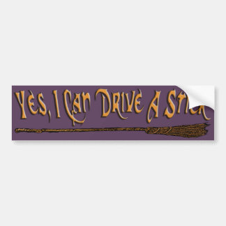 Puedo conducir un palillo etiqueta de parachoque