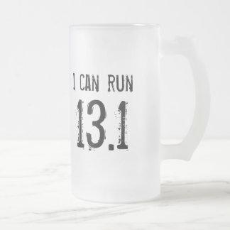 Puedo correr 13,1 - los zurdos taza de cristal