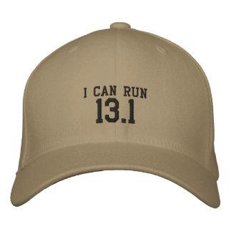 Puedo correr 13,1 -- ¿Puede usted? Gorros Bordados