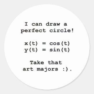 ¡Puedo dibujar un círculo perfecto! Pegatina Redonda