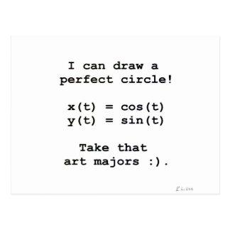 ¡Puedo dibujar un círculo perfecto! Tarjetas Postales