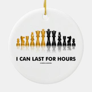 Puedo durar por las horas (el juego de ajedrez del adorno redondo de cerámica