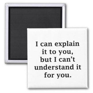 Puedo explicarlo a usted imán cuadrado