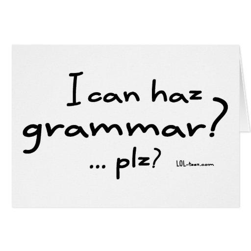 ¿Puedo gramática de Haz? Tarjeta De Felicitación