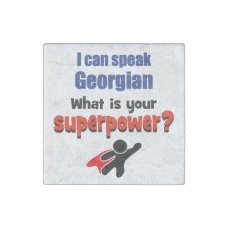 Puedo hablar georgiano. ¿Cuál es su superpotencia? Imán De Piedra