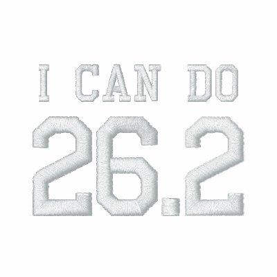 Puedo hacer 26,2 -- ¿Puede usted? Chaqueta Bordada De Entrenamiento