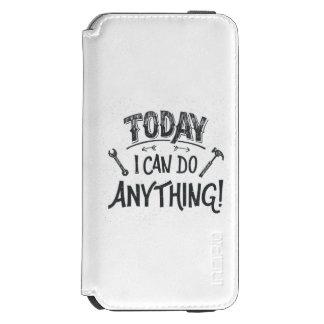 Puedo hacer hoy cualquier cosa funda billetera para iPhone 6 watson