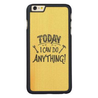 Puedo hacer hoy cualquier cosa funda de arce carved® para iPhone 6 plus