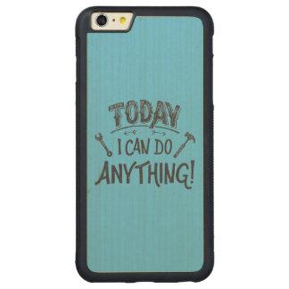 Puedo hacer hoy cualquier cosa funda para iPhone 6 plus de carved® de nogal