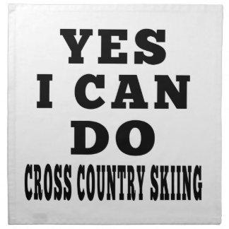 Puedo hacer sí el esquí del campo a través servilleta imprimida
