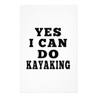 Puedo hacer sí Kayaking Papeleria De Diseño