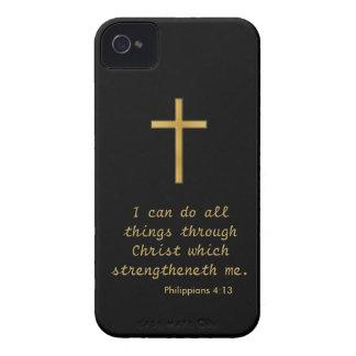 Puedo hacer todas las cosas a través de Cristo Case-Mate iPhone 4 Fundas