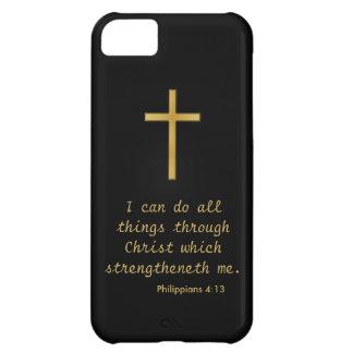 Puedo hacer todas las cosas a través de Cristo Funda Para iPhone 5C