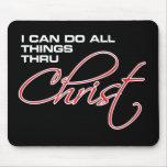 Puedo hacer todas las cosas a través de Cristo - J Tapete De Raton