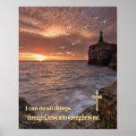 puedo hacer todas las cosas a través de Cristo Poster