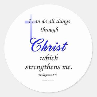 Puedo hacer todas las cosas a través de Cristo Etiqueta