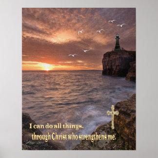 puedo hacer todas las cosas a través de Cristo Póster