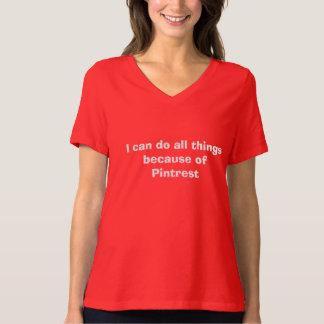 Puedo hacer todas las cosas debido a Pintrest Camisas