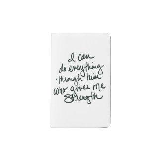 Puedo hacer todo - pequeño cuaderno inspirado funda para libreta y libreta pequeña moleskine