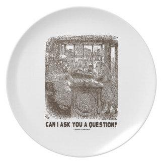 ¿Puedo hacerle una pregunta? (Ovejas de Alicia) Platos