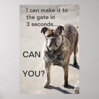 Puedo hacerlo a la puerta…. póster