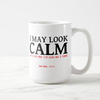 Puedo mirar la taza divertida tranquila