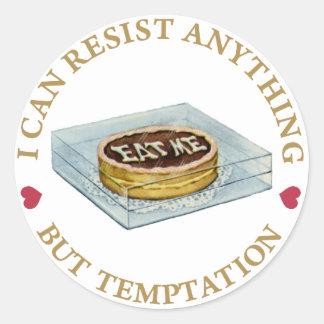 Puedo oponerme todo menos a la tentación pegatinas
