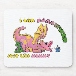 Puedo RAWR, apenas como chica lindo del dragón del Alfombrillas De Ratón