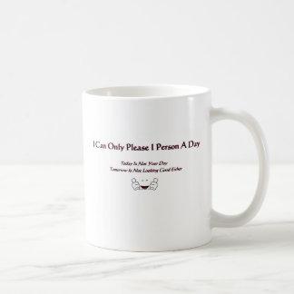Puedo satisfacer solamente a 1 persona al día taza clásica