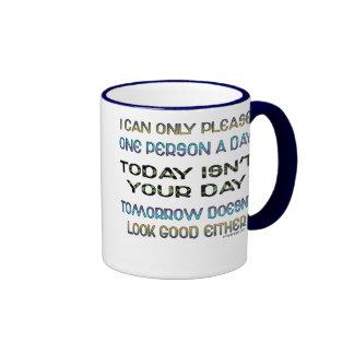 Puedo satisfacer solamente a una persona un humor tazas de café