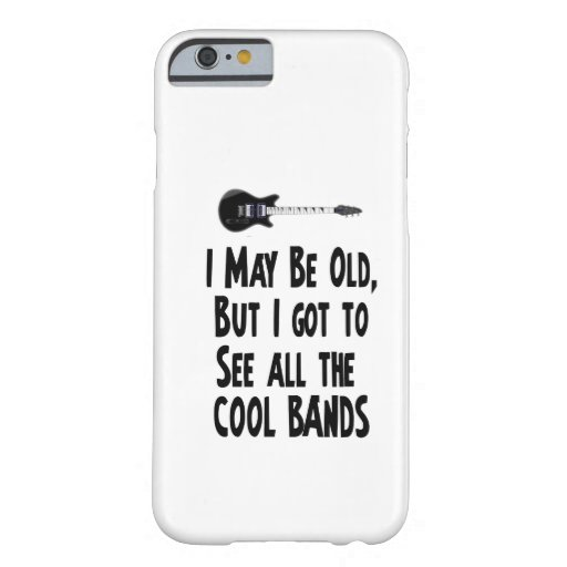 ¡Puedo ser bandas viejas, frescas! Funda Barely There iPhone 6