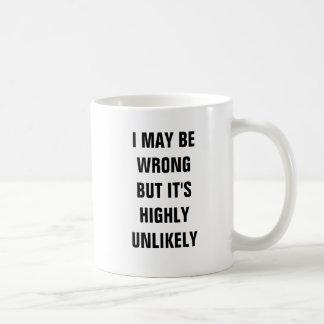 Puedo ser incorrecto pero es altamente inverosímil taza básica blanca