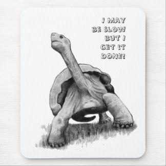 Puedo ser lento pero… dibujo de lápiz de la tortu alfombrilla de ratón
