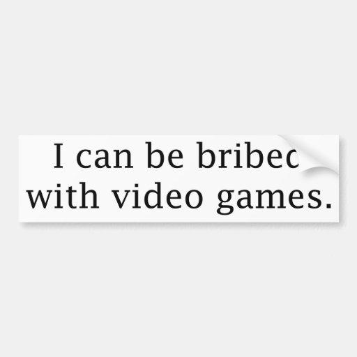 Puedo ser sobornado con los videojuegos pegatina de parachoque