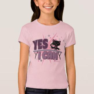 Puedo sí camiseta linda del gato de la gimnasia