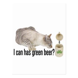 ¿Puedo tengo cerveza verde Postal