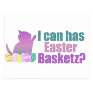 Puedo tengo cesta de Pascua Tarjetas Postales